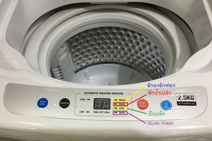 หน้าจอแสดงการทำงานเครื่องซักผ้ามินิeasytowash