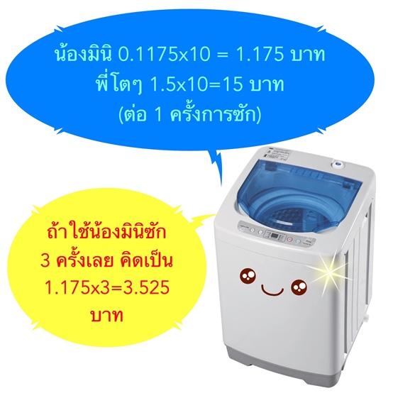 เครื่องซักผ้ามินิEasytoWashประหยัดมาก10